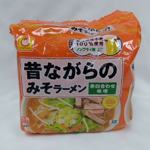 TOYO SUISAN / INSTANT RAMEN NOODLE SOYBEAN (MUKASHINAGARA MISO RAMEN) 106gx5