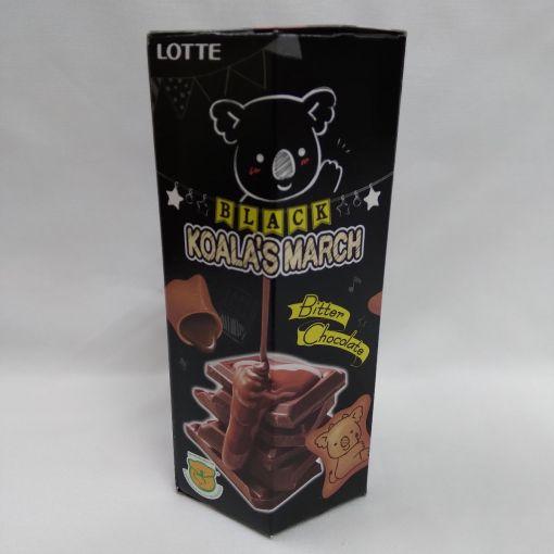THAI LOTTE / CHOCOLATE SNACK (BLACK KOALA NO MARCH BLACK BITTER CHOCO) 37g