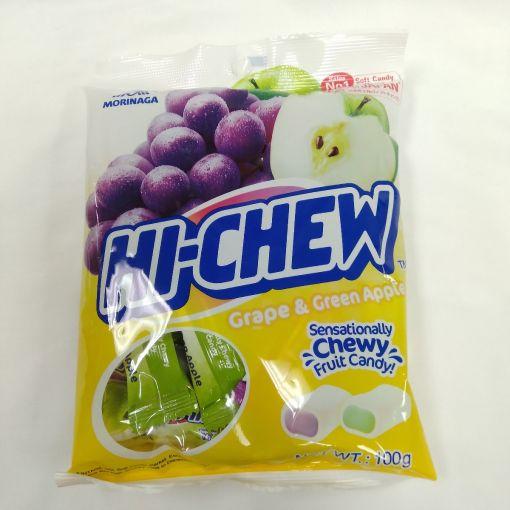 MORINAGA SEIKA / TAIWAN MORINAGA HI-CHEW BAG (GRAPE & GREEN APPLE) NEW 100g