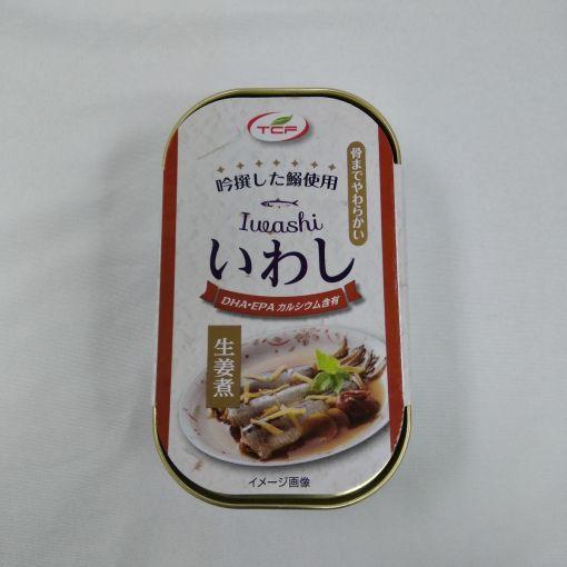 TENCHO FOODS / CANNED SEASONED FISH (IWASHI GINGER) 100g