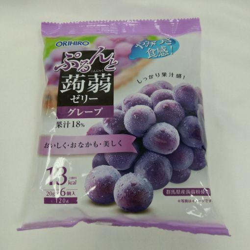 ORIHIRO / KONJAK JELLY GRAPE BAG 6P 20gx6