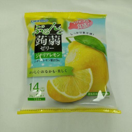 ORIHIRO / KONJAK JELLY LEMON BAG 6P 20gx6