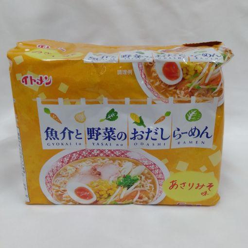 ITOMEN / INSTANT NOODLE (GYOKAITOYASAINO ODASHI RAMEN MISO) 430g