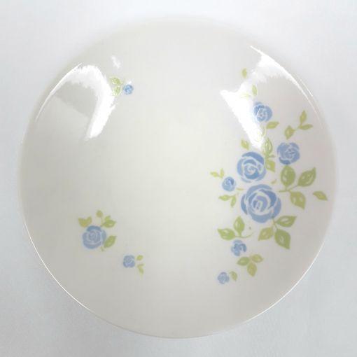 CANDO / FLOWER ROUND PLATE BLUE 1P
