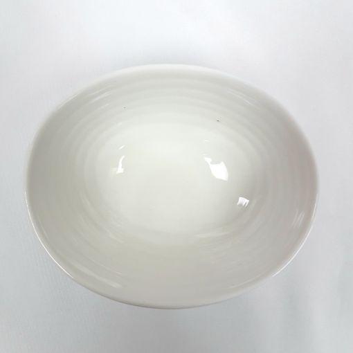 CANDO / White bone round small pot 1p