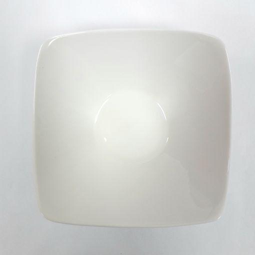 CANDO / White bone square deep bowl : PB 1p