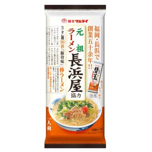MARUTAI / DRIED NOODLE RAMEN (BO RAMEN GANSO NAGAHAMA KYORYOKU BO RAME 118g