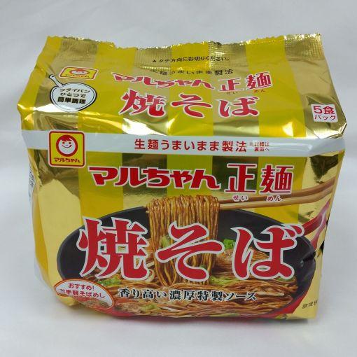 TOYO SUISAN / INSTANT FRIED NOODLE (MARUCHAN SEIMEN SAUCE YAKISOBA) 110gx5
