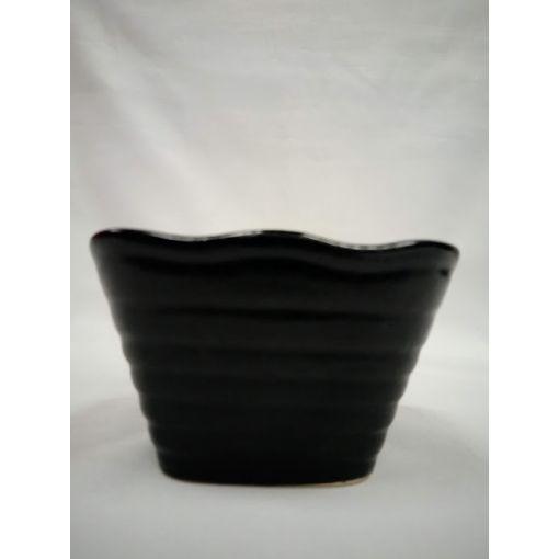 CANDO / BLACK CERAMIC SMALL DISH 1p