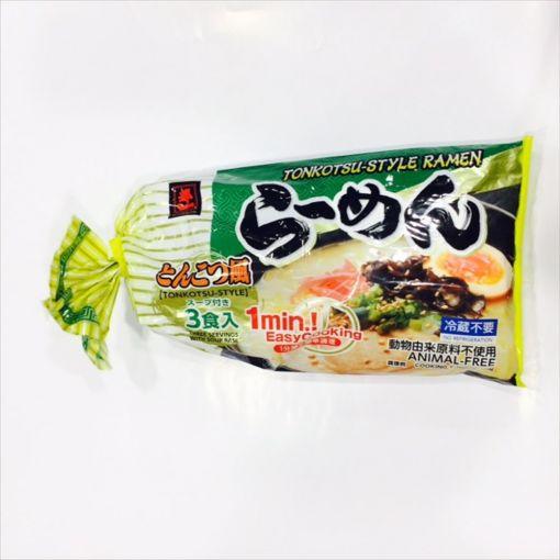 MIYAKOICHI / FRESH RAMEN NOODLE PORK 3P (LL RAMEN TONKOTSU) 618g