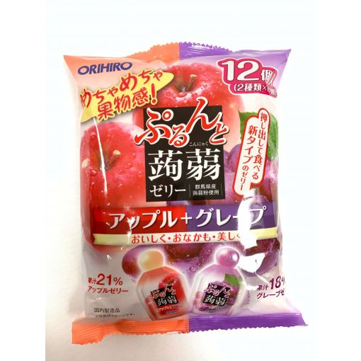 ORIHIRO / KONJAK JELLY APPLE + GRAPE BAG 20gx12